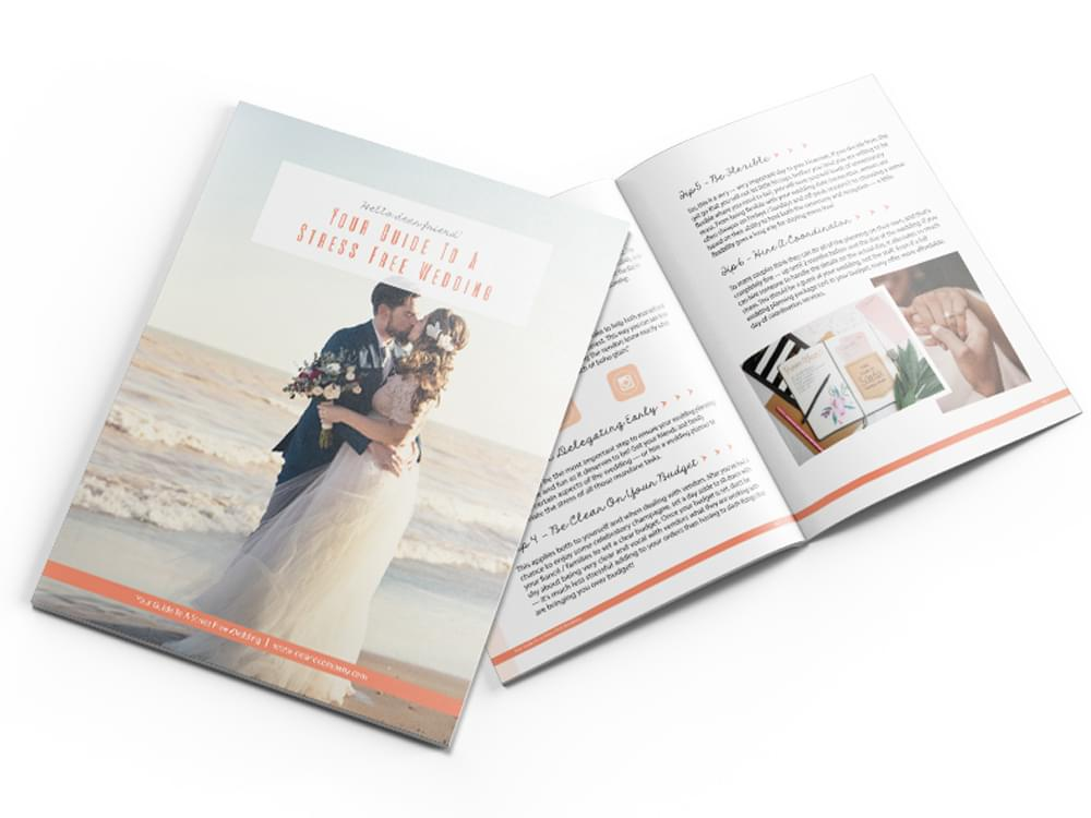 Your Guide To A Stress Free Wedding eBook | I Do And Company